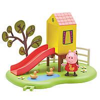 Игровой набор Peppa ИГРОВАЯ ПЛОЩАДКА ПЕППЫ домик с горкой, фигурка Пеппы (06149-2)