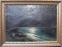 Картина Ночь на море. Капустин Григорий 19 век