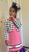 """Платье с пиджаком """"Эльвира""""6,размеры 104 - 146 см"""