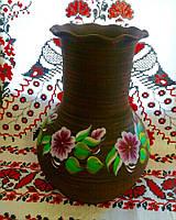 Глиняная ваза с рисунком 3л