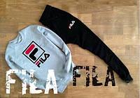 спортивный костюм FILA ( серый ) Большое лого