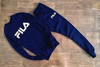 Темно-синий костюм FILA (теплый)