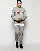 Серый костюм Jordan ( черно-красное лого)