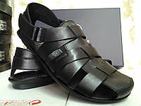 Чёрные летние сандалии Bertoni