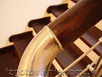 Ограждения лестничные из нержавеющей стали с деревянным поручнем, артикул 02-06-0008