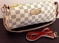 Сумка клатч через плечо Louis Vuitton на цепочке цвет белый