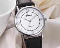 Женские часы с черным ремешком Geneva (174)