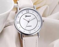 Женские часы с белым ремешком Geneva (175)