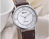 Женские часы с ремешком коричневого цвета Geneva (176)