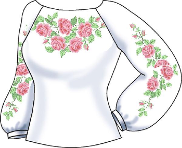 СВЖБ-10. Заготовка для вишивки бісером Жіноча сорочка лляна біла ... d714b31ad094d