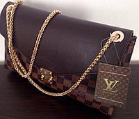 Сумка клатч Louis Vuitton Луи Виттон на цепочке цвет коричневый, фото 1