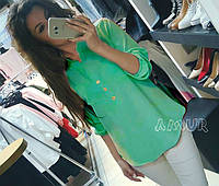 Блуза женская Френки мята , рубашка женский