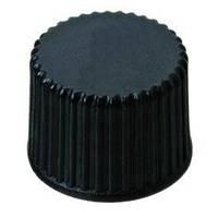 LLG Винтовые крышки N 8  из септами N 8, в собранном виде Крышка черная, без отверстия Септа Красная резина /бесцветный фторопласт Твердость 40° по Шо