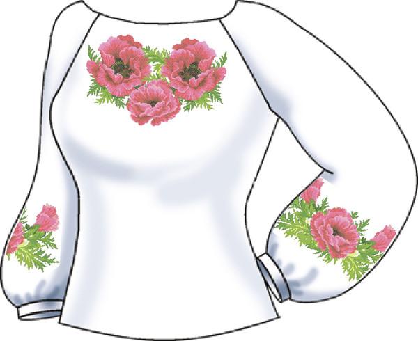 СВЖЛ-7. Заготовка для вишивки бісером Жіноча сорочка лляна. 0f29db9207f96