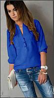 Блуза женская Френки электрик , рубашки женские