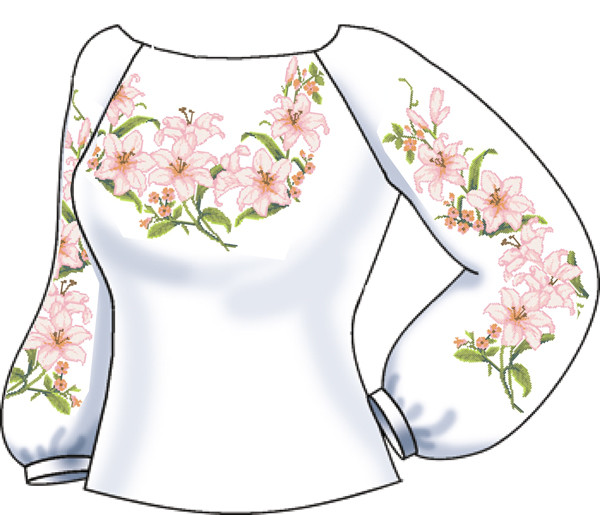 СВЖЛ-11. Заготовка для вишивки бісером Жіноча сорочка лляна. a9843b1fcb291