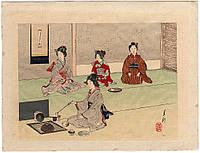 Чайная церемония. Япония 1880-1900 е годы