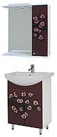 """Комплект мебели для ванной комнаты """"Сакура -Бордо"""" (правый )"""