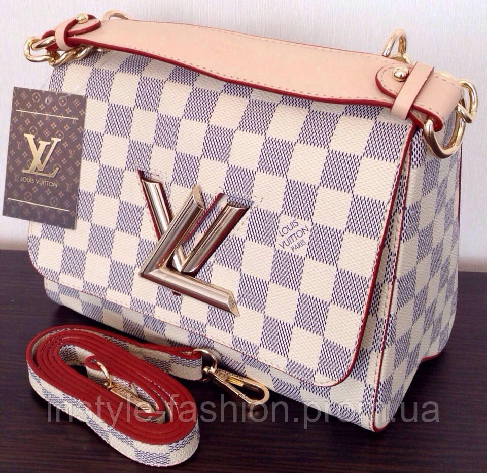 8e9050490766 Сумка клатч через плечо Louis Vuitton Луи Виттон цвет белый  купить ...