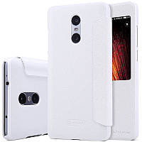 Кожаный чехол (книжка) Nillkin Sparkle Series для Xiaomi Redmi Pro Белый