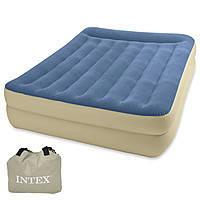 Кровать велюр 67714 152-203-47см, встроенный насос 220-240V