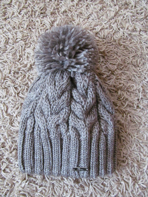 Зимняя шапка женская вязаная серая 51e3c9225e8b2