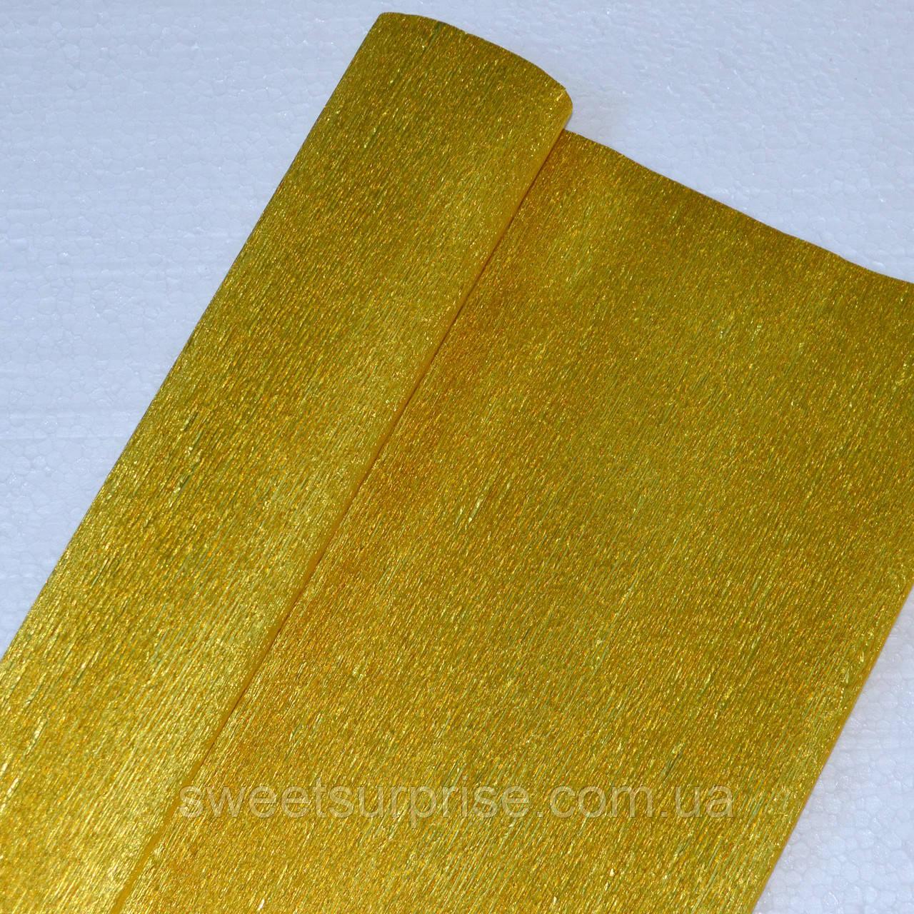 Металлизированная креп-бумага (золотой)