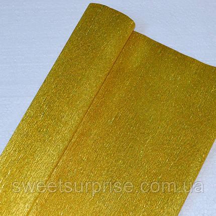 Металлизированная креп-бумага (золотой), фото 2