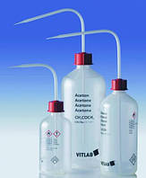 Безопасные промывалки с узкой горловиной VITsafe с маркировкой, PP/PE-LD Этикетка Гептан Объем 500 мл Резьба 25 GL Материал PE-LD
