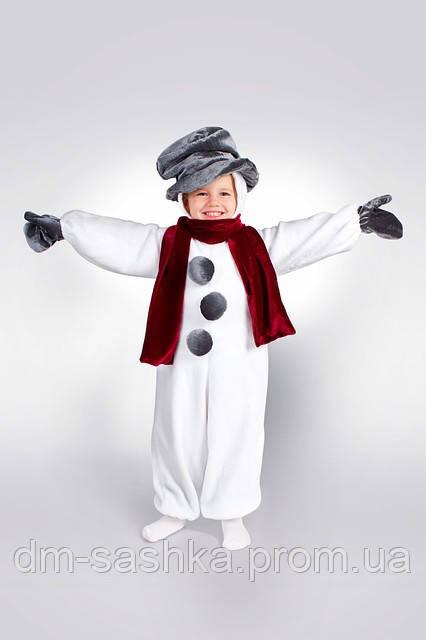 Карнавальный костюм Снеговик оптом - Интернет-магазин «Детская мода «Сашка». Фабричная школьная форма и карнавальные костюмы в Харькове