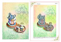 Схема для вишивки бісером Чашки