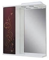 Зеркало для ванной 60-01 левое Бордо + золото