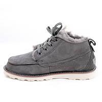 Зимние мужские ботинки UGG Neumel Grey, серые замша