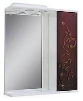 Зеркало для ванной 60-01 правое Бордо + золото