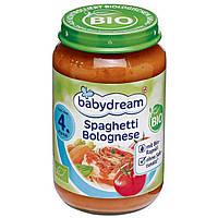 Babydream Bio Menü Spaghetti Bolognese - Детское био меню спагетти болоньезе, с 4 месяца, 190 г