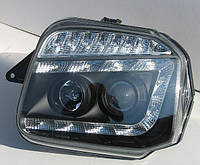 Фары оптика Suzuki Jimny передние черные пара LUX