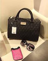 Маленькая стильная женская сумочка MANGO черного цвета