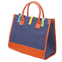 Стильная удобная женская сумочка синего цвета