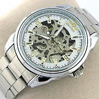 Мужские механические наручные часы скелетоны Winner Stile