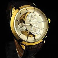 Мужские механические наручные часы c календарем SHENHUA