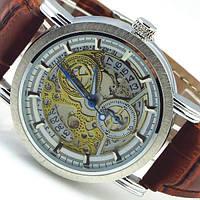 Механические мужские наручные часы с автоподзаводом Winner Submarine Brown