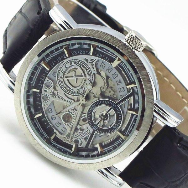 Механические мужские наручные часы с автоподзаводом Goer Submarine Black