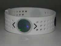 Силиконовый энергетический спортивный браслет Power Balance Evolution белого цвета размер S