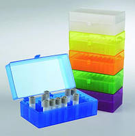 50-/100-луночные боксы для хранения микропробирок, ПП, автоклавируемые Количестволунок 100 Размеры(Д х Ш х В) 141 x 151 x 57 мм Цвет черный