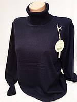 Однотонная женская кофта батал с оригинальными рукавами 2310