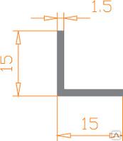 Алюмінієвий Кутник ПАС-1095 15х15х1.5 / без покриття