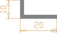 Алюминиевый уголок 20х10х2 анодированный (AS)