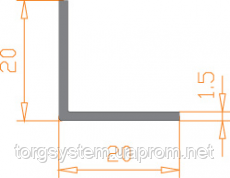 Алюминиевый уголок 20х20х1,5 анодированный (AS)