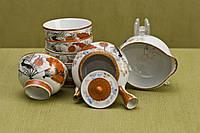 Набор для сентя с веерами и ветками. Япония, период Тайсё 1900е годы