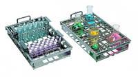 Штатив для пробирок Н1, для водяных бань-встряхивателей [EN]: Test tube rack SR-10 for 48 x 10 mm tubes